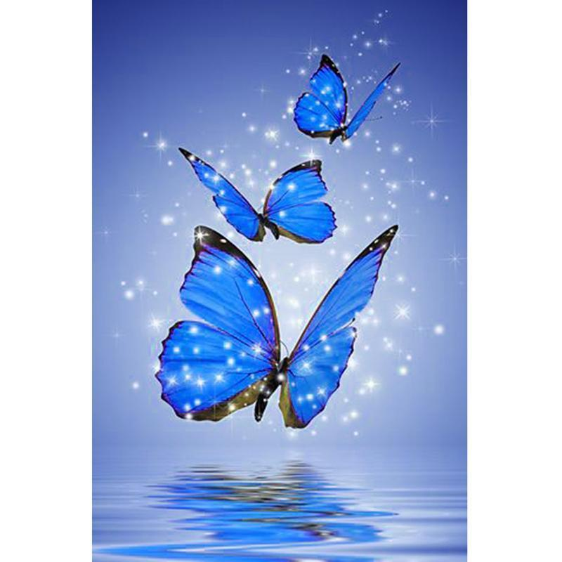 Three Butterflies - DIY 5D Diamond Painting - Full Drill-EasyWhim