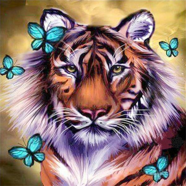 Tiger Butterfly - DIY 5D Diamond Painting - Full Drill-EasyWhim