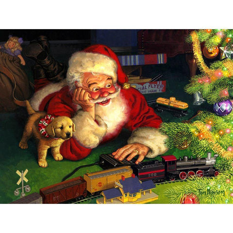 Image of Train Santa - DIY 5D Diamond Painting - Full Drill-EasyWhim