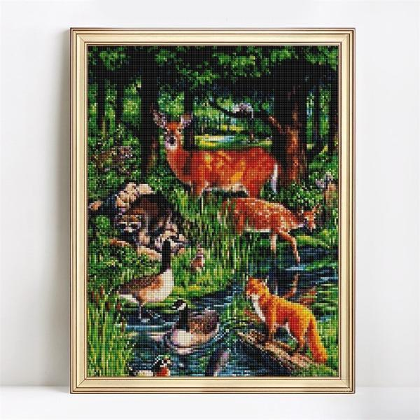 Wild Life - DIY 5D Diamond Painting - Full Drill-EasyWhim
