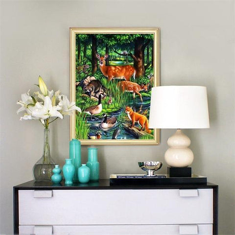 Image of Wild Life - DIY 5D Diamond Painting - Full Drill-EasyWhim