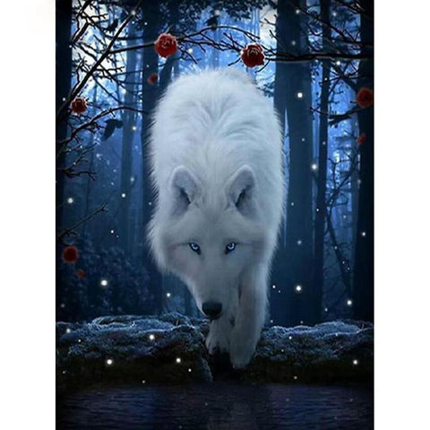 Image of Winter Forest Wolf - DIY 5D Diamond Painting - Full Drill-EasyWhim