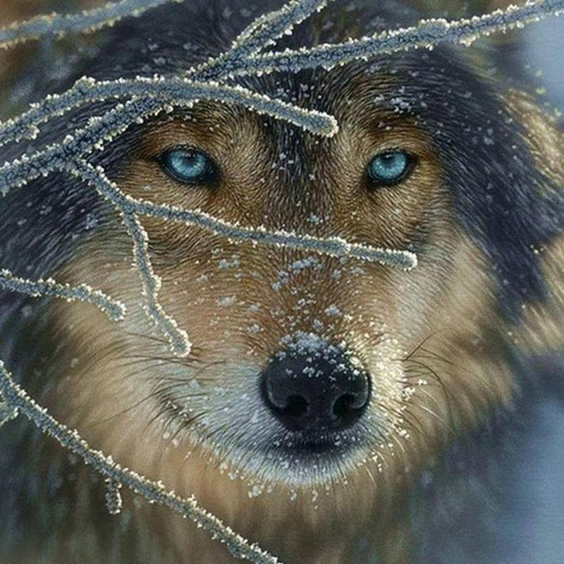 Winter Wolf - DIY 5D Diamond Painting - Full Drill-EasyWhim