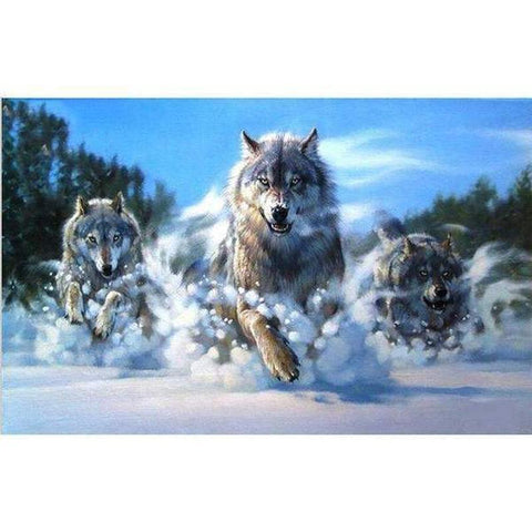 Wolves - DIY 5D Diamond Painting - Full Drill-EasyWhim