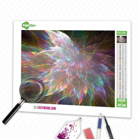 Bunte abstrakte Blume - DIY 5D Diamond Painting (Diamanten Malerei)