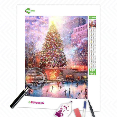 Image of Bunter Weihnachtsbaum - DIY 5D Diamond Painting (Diamanten Malerei)