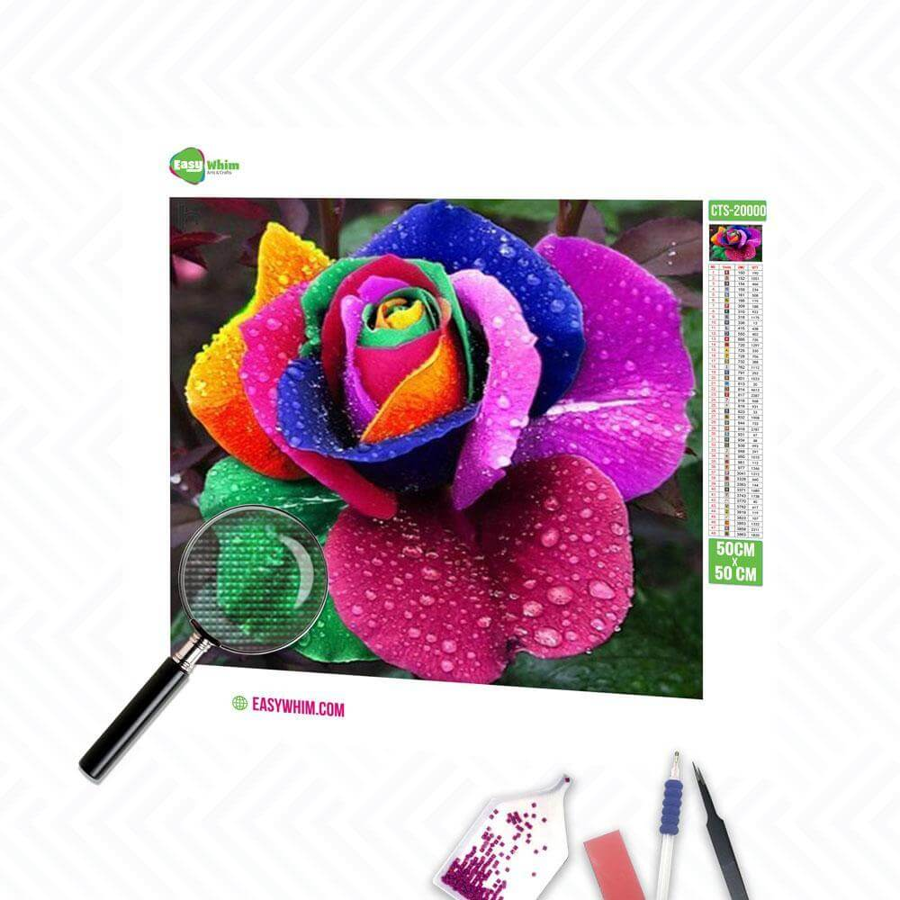 Bunte Blumen - DIY 5D Diamond Painting (Diamanten Malerei)