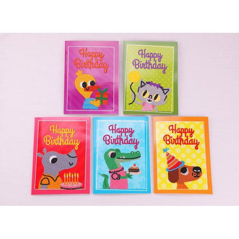 Image of Cute Animal Birthday Cards - DIY 5D Diamond Painting-EasyWhim