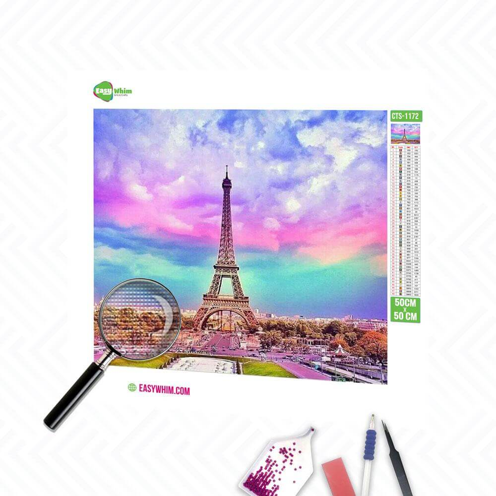Eiffelturm - DIY 5D Diamond Painting (Diamanten Malerei)