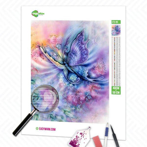 Fantasie Schmetterling - DIY 5D Diamond Painting (Diamanten Malerei)