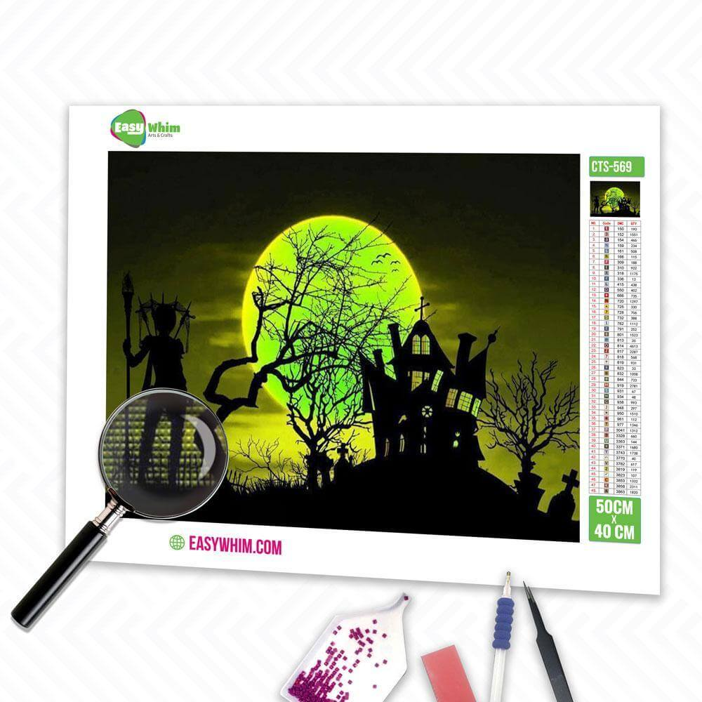 Fantasie Halloween - DIY 5D Diamond Painting (Diamanten Malerei)