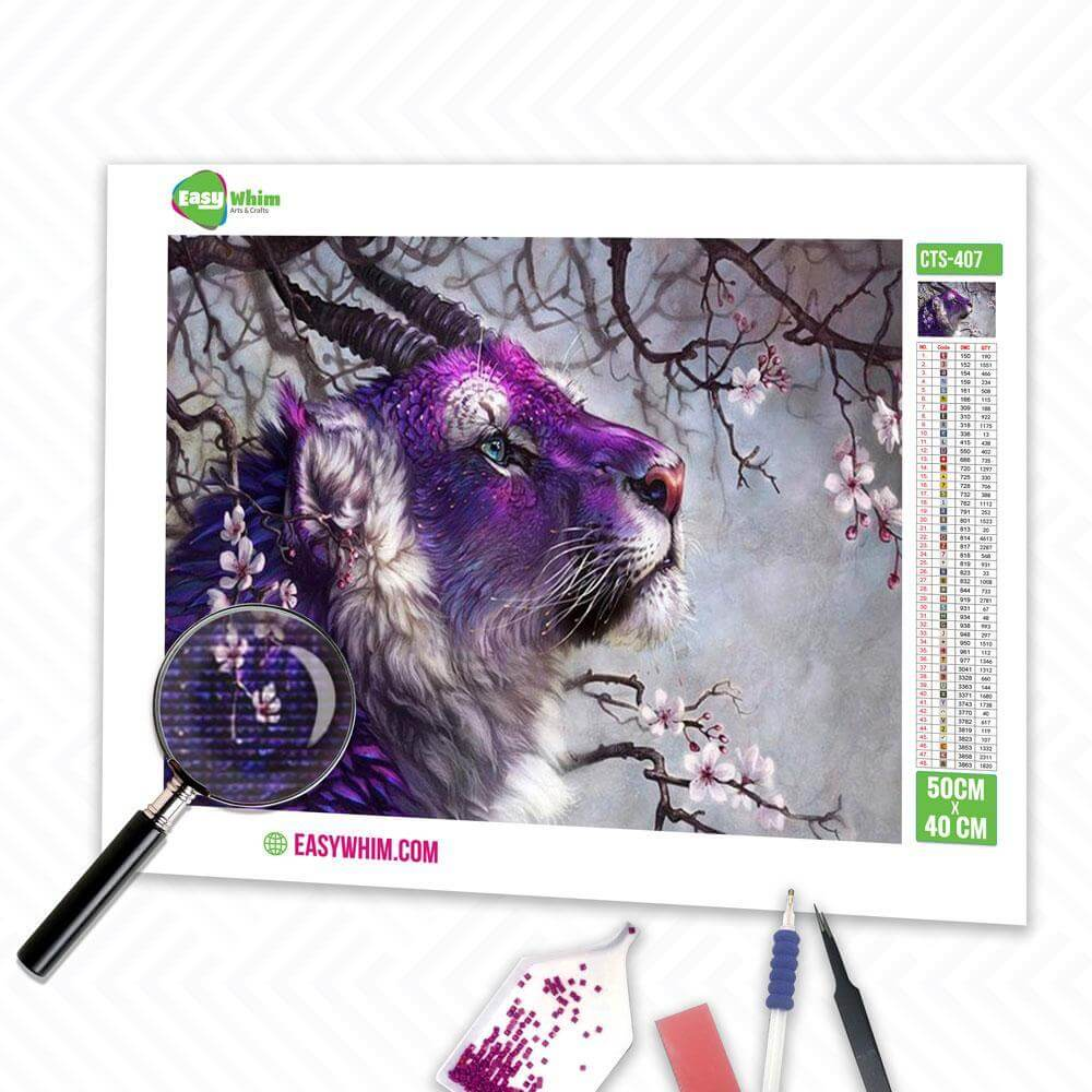 Fantasietiger - DIY 5D Diamond Painting (Diamanten Malerei)