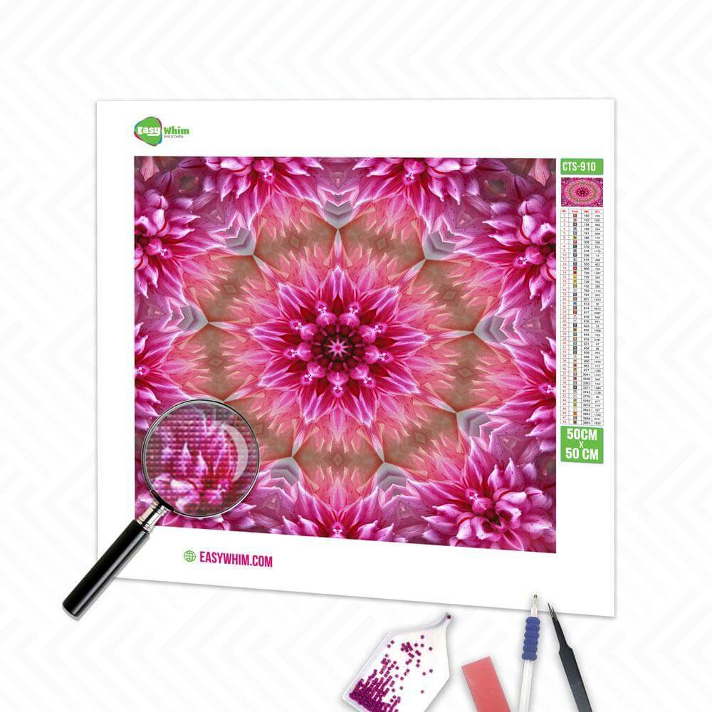 Blumiges Mandala - DIY 5D Diamond Painting (Diamanten Malerei)