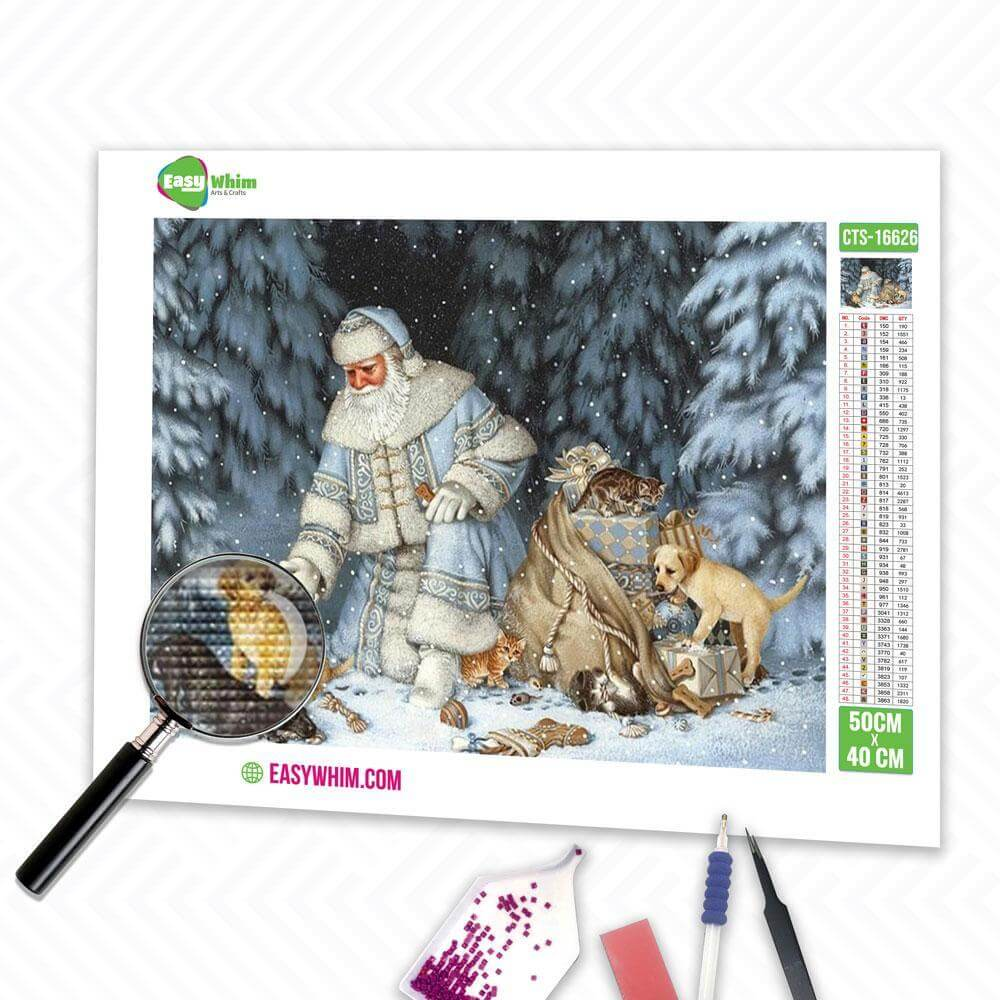 Wald Weihnachtsmann - DIY 5D Diamond Painting (Diamanten Malerei)