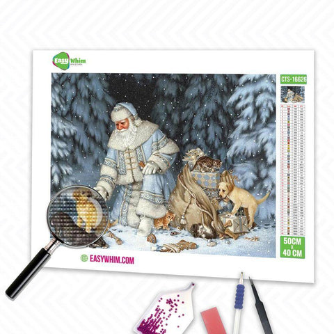 Image of Wald Weihnachtsmann - DIY 5D Diamond Painting (Diamanten Malerei)