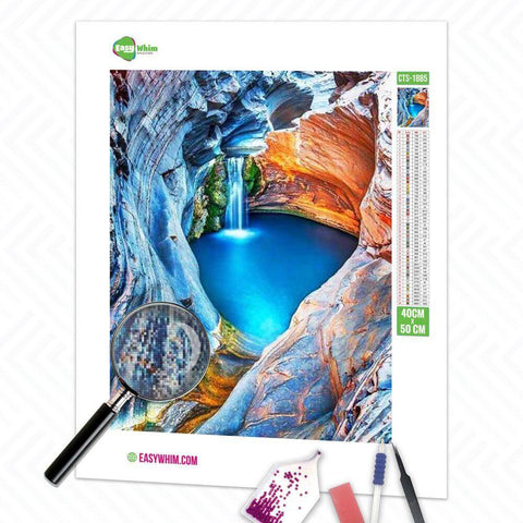 Image of Verstecktes Paradies - DIY 5D Diamond Painting (Diamanten Malerei)