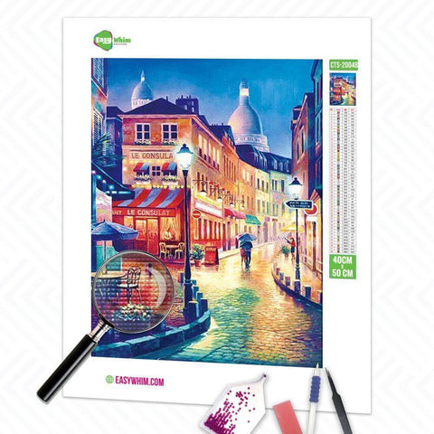 Image of Nachtstadtstraße - DIY 5D Diamond Painting (Diamanten Malerei)