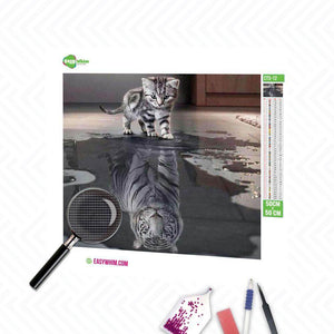 Tigerkatze - DIY 5D Diamond Painting (Diamanten Malerei)