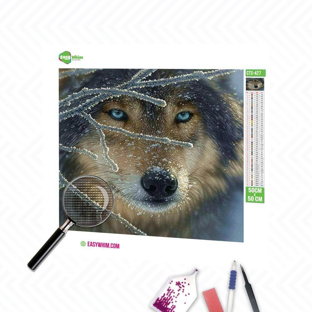 Winter Wolf - DIY 5D Diamond Painting (Diamanten Malerei)