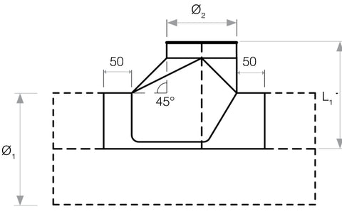 QF® Cut in Boot Shoe Galv 400Ø-710Ø diagram