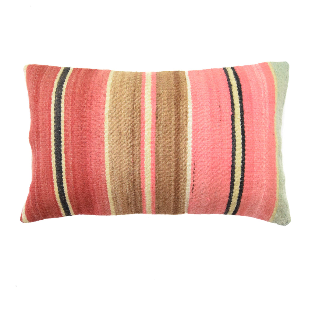 Cancun Red Lumbar Kilim Pillow (12x20)