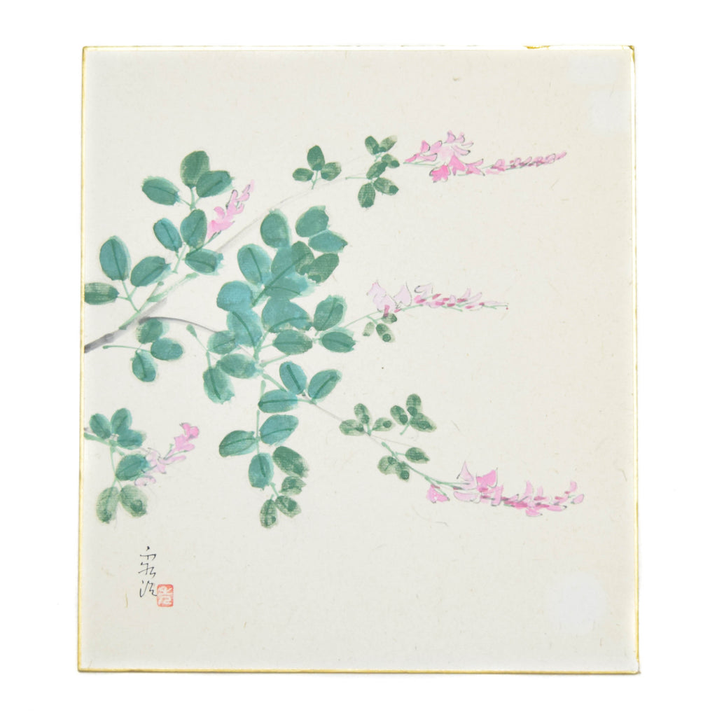 Blossoms Japanese Shikishi Watercolor Painting
