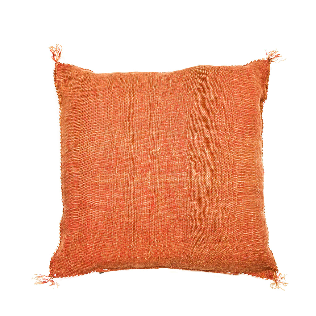 Rust Moroccan Sabra Cactus Silk Pillow (17x18)