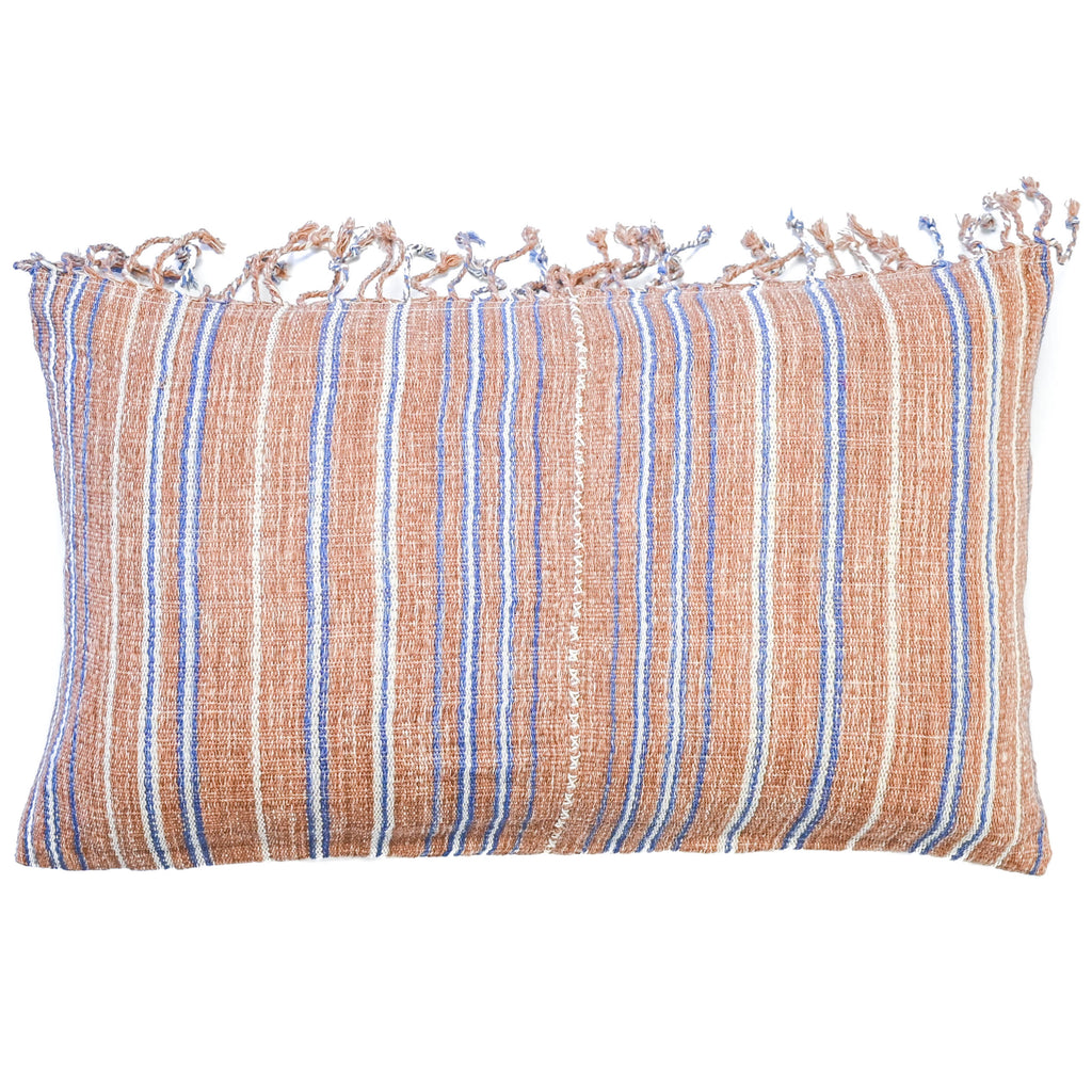 Dillon Stripe Vintage Hmong Pillow (12x20)