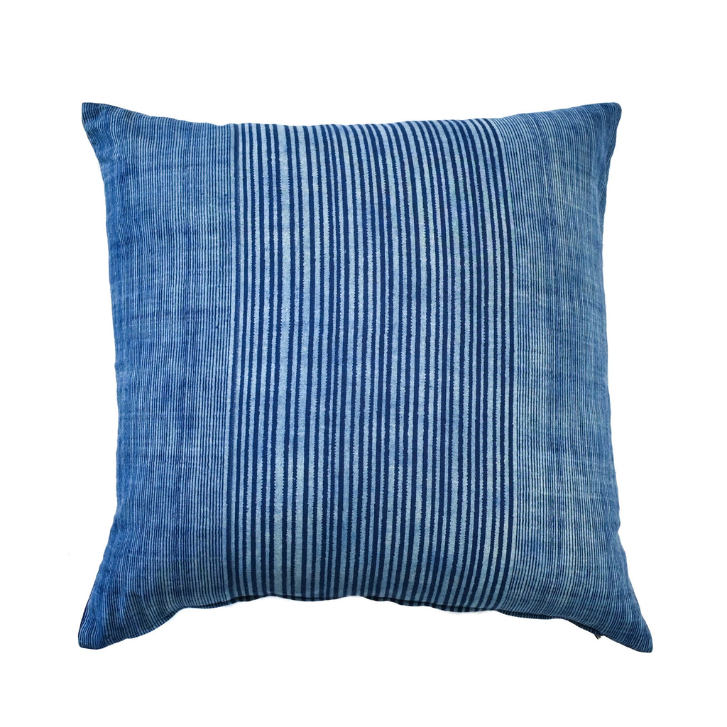 Moroccan Striped Pom Pom Pillow (18x18)