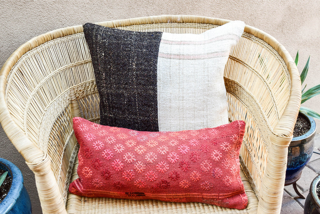 Dream Catcher Lumbar Kilim Pillow (10x20)