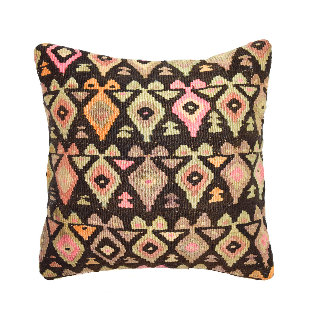 Lanterns Kilim Pillow (16x16)