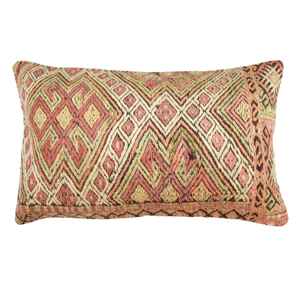 Oasis Side Stripe Lumbar Kilim Pillow (16x24)