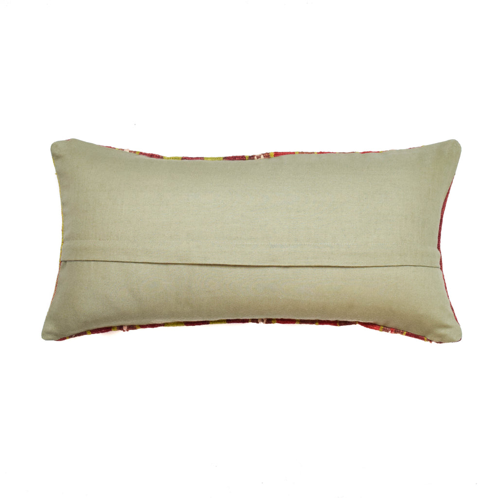 Botswana Bright Stripe Lumbar Kilim Pillow (12x24)