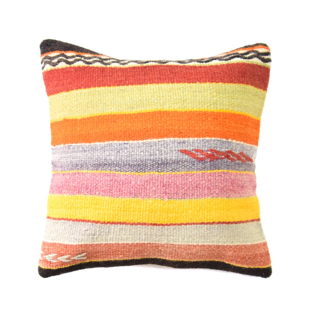 Santa Fe Stripe Kilim Pillow (16x16)