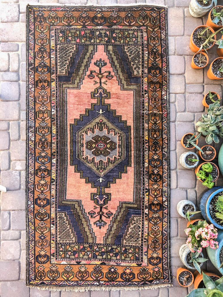 Magdaline Vintage Turkish/ Antolian Oushak Carpet