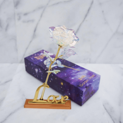 Image of 24k Eternal Crystal Gold Rose Gift - Crystal Rose