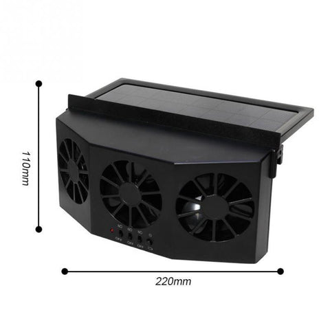 Image of Best 3 Cooler Car Fan Solar Energy Cooling Vent Exhaust Portable Safe Auto