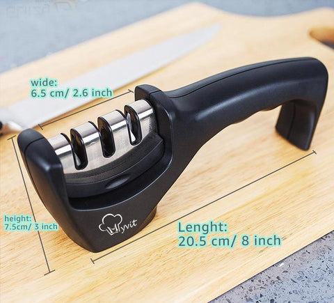 Image of new 3 stages professional knife sharpener 2019