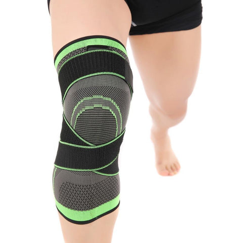 Image of Pressurized Fitness Running Cycling Bandage Knee Support Braces Elastic Nylon Sports Compression Pad Sleeve 2019