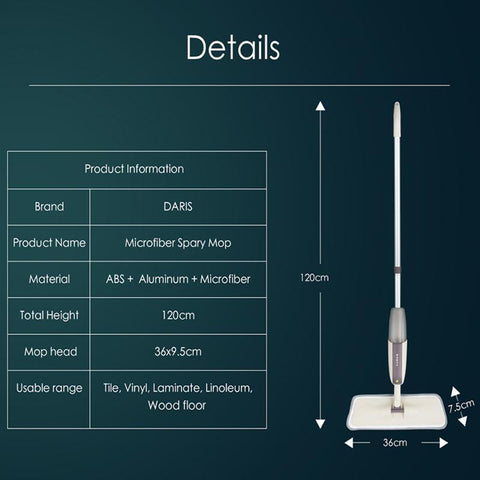 Image of spray mop , flat spray mop, best spray mop, DiPrago