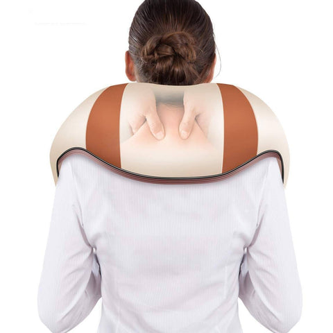 best U Shape Electrical Shiatsu Back Neck Shoulder Body Massager Infrared Heated Kneading Car/Home Massage