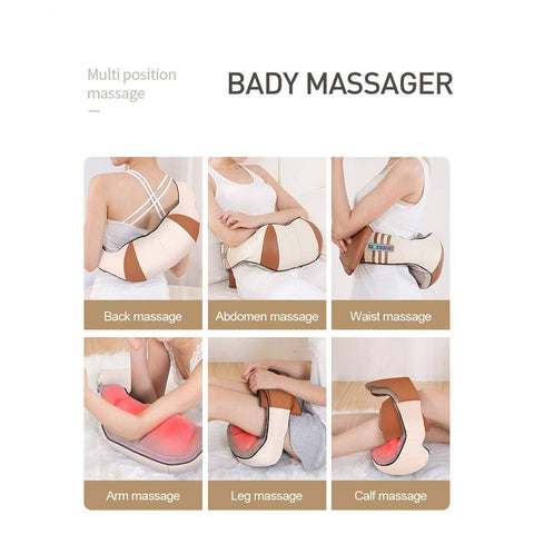 Image of new 2019 U Shape Electrical Shiatsu Back Neck Shoulder Body Massager Infrared Heated Kneading Car/Home Massage