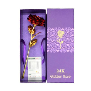 24k Gold Plated Rose Flower Gift