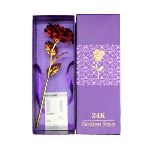Image of 24k Gold Plated Rose Flower Gift