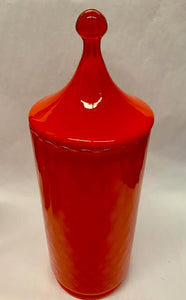 End of History Orange Glass Jar