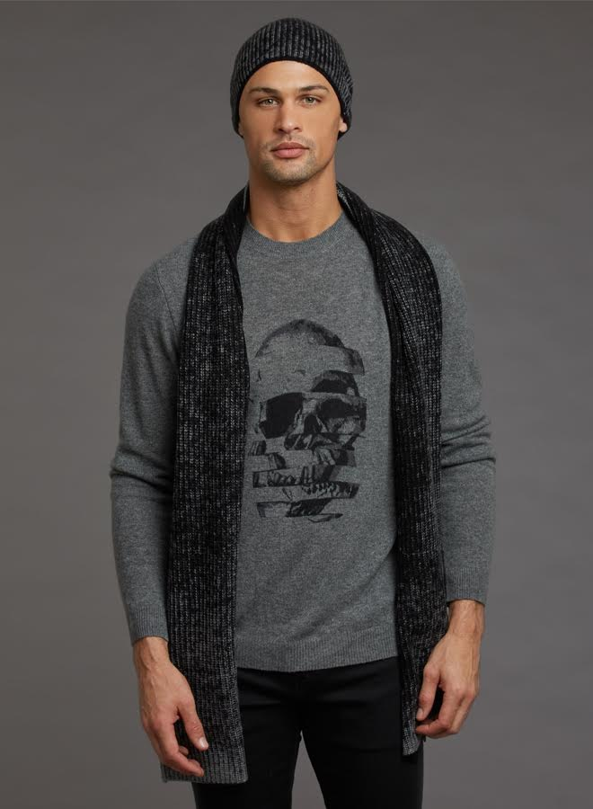 Autumn Cashmere Sliced Skull Printed Crew