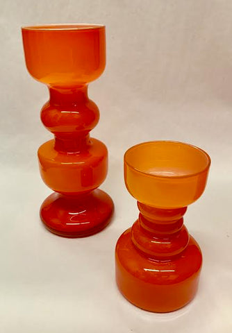 End of History Orange Vases