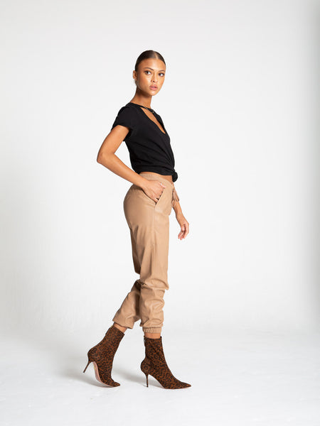 n:Philanthropy Scarlett Faux Leather Jogger