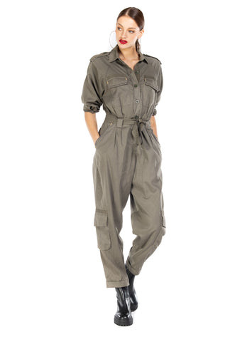 Mason's California Military Twill Overall Jumpsuit