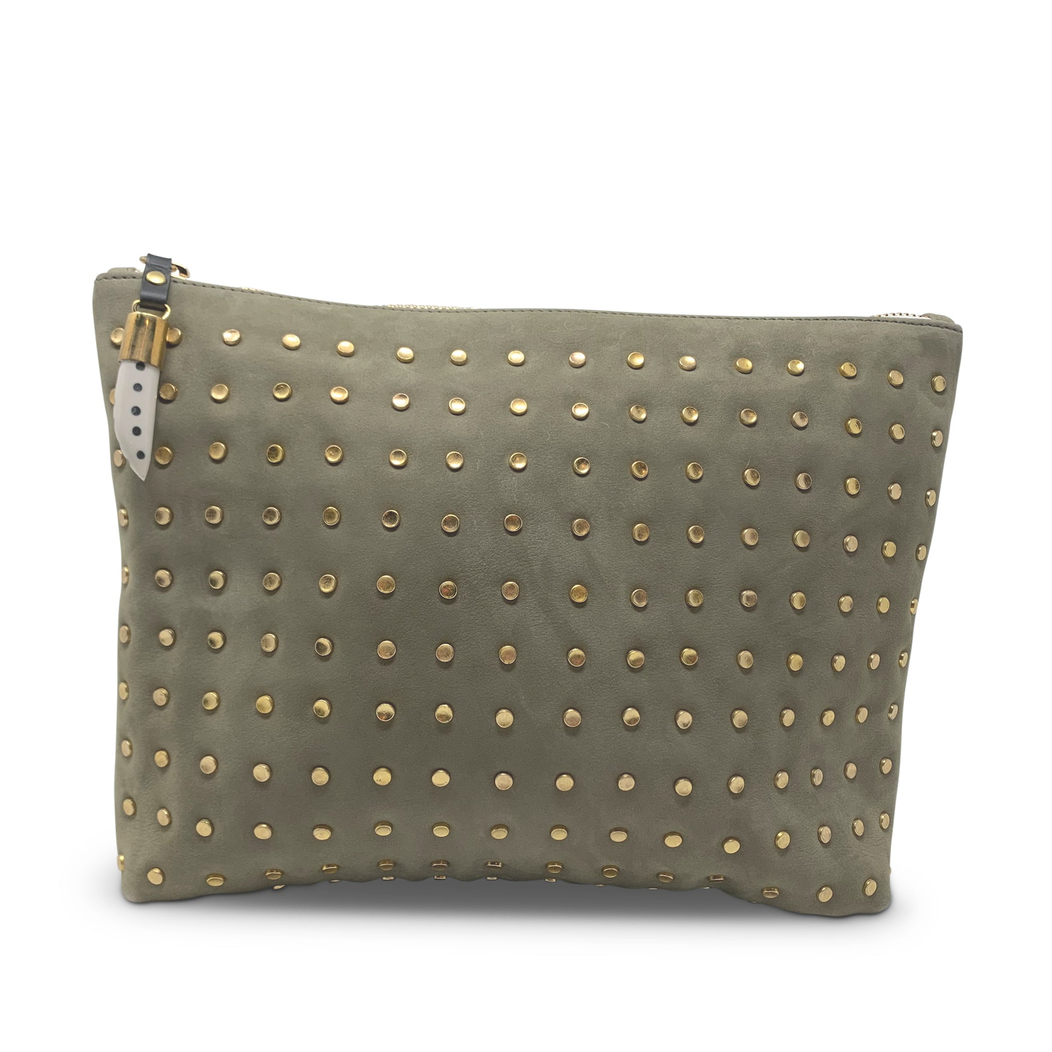 Compton & Co. Medium Driftwood Studded Pouch